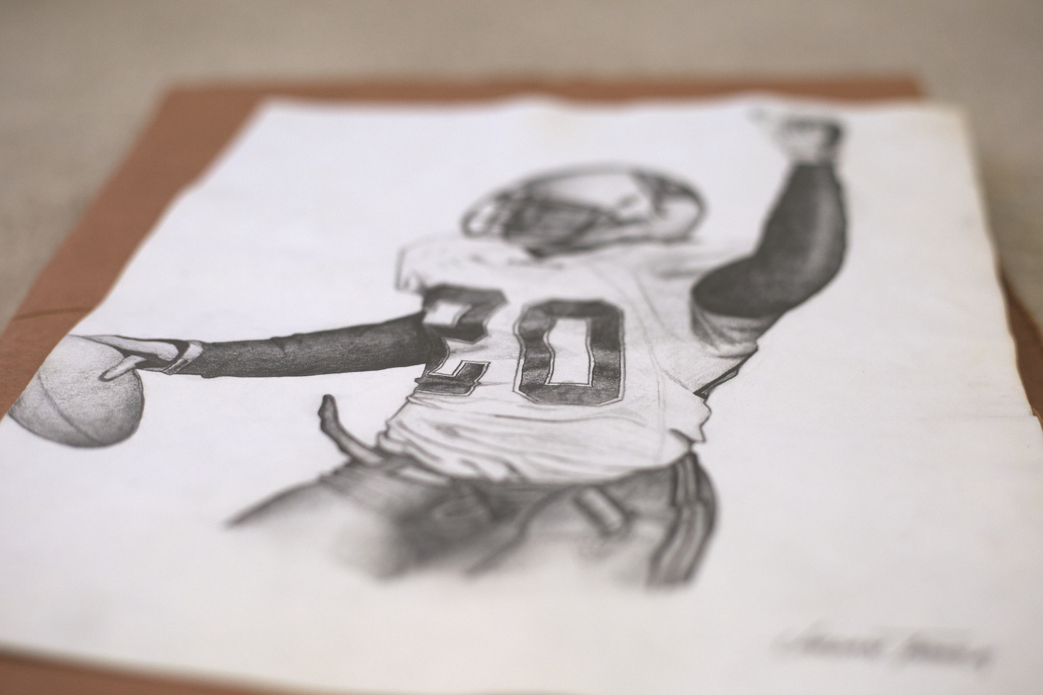 hand-drawn-ronde-barber-nfl-players-artist-for-hire-in-phoenix-for-custom-pencil-sketching-portraits-and-typography-design-for-athletes
